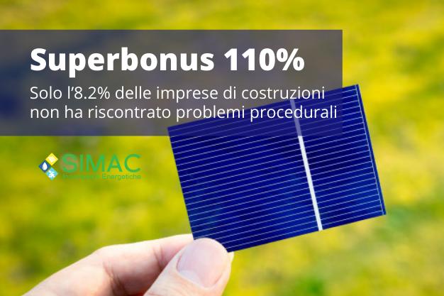Superbonus 110%, Ance: solo l'8.2% delle imprese di costruzioni non ha riscontrato problemi procedurali